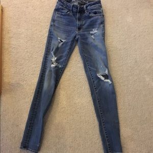 Distressed Ripped American Eagle Jeans